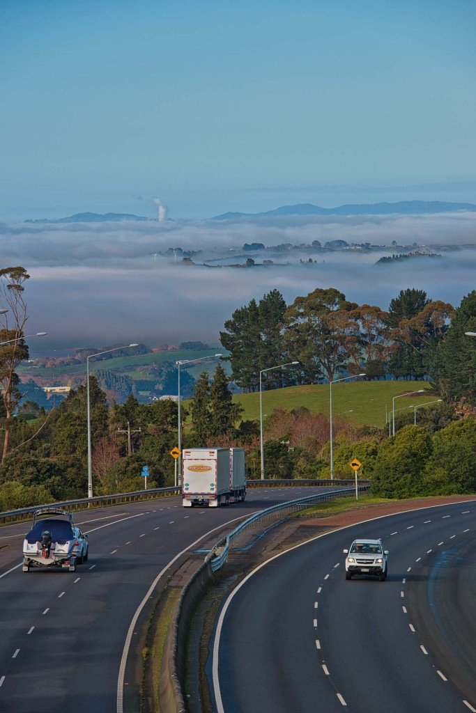 Looking south from Nikau Road just south of Bombay