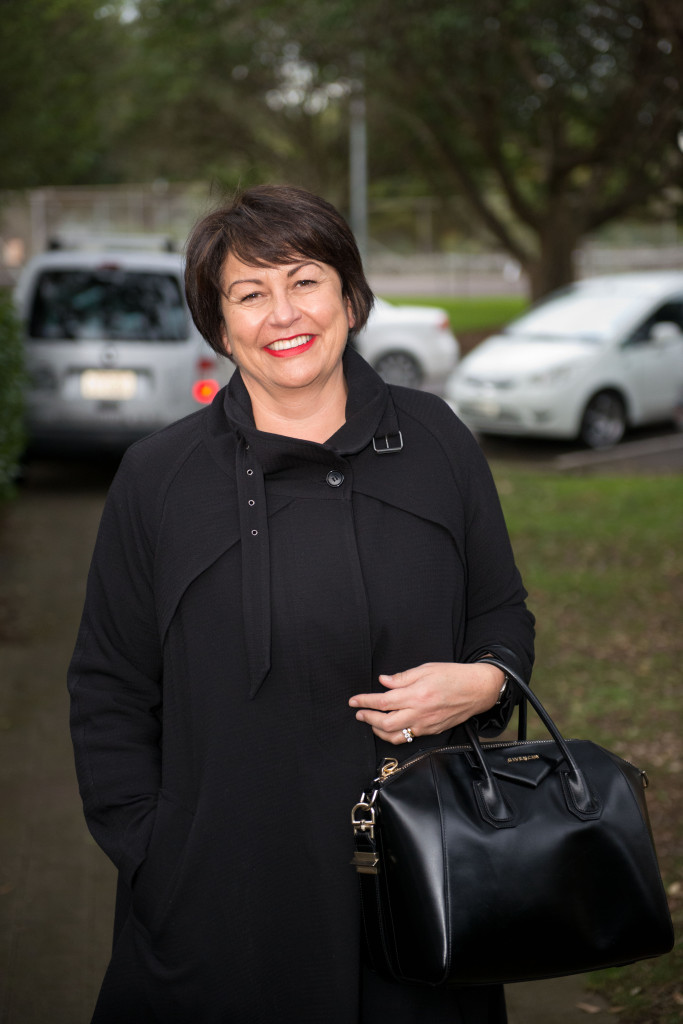 Hekia Parata arriving at the Bridging the Divides Conference, Auckland.