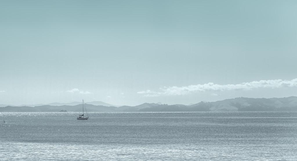 Boat at anchor close to Maretai