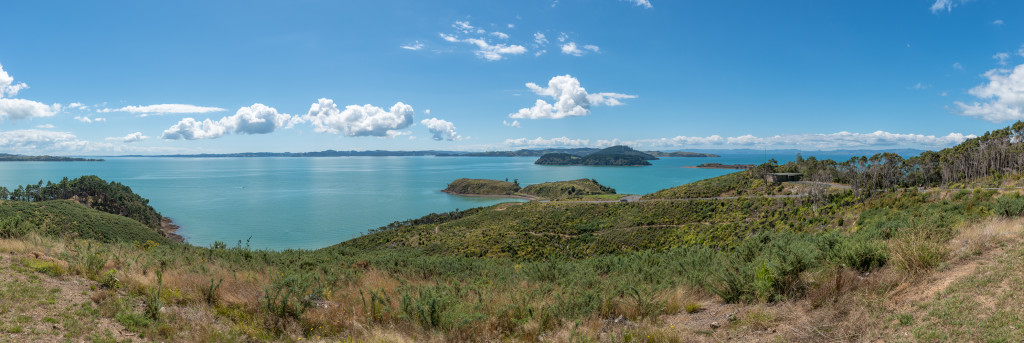Looking at towards Waiheke Island from Waitawa Regional Park
